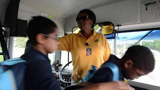 Ride along with Lisa Stephens, the bus driver who volunteers at Emma E. Booker Elementary School between her morning and ...