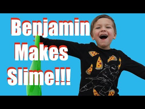 Benjamin Makes Slime!