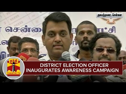 Poduvom-Vottu-Vanga-Mattom-Nottu--District-Election-Officer-inaugurates-Awareness-Campaign