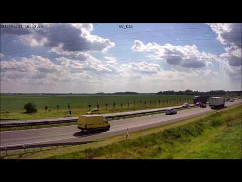 Zatrzymanie rowerzysty przez służby utrzymania autostrady
