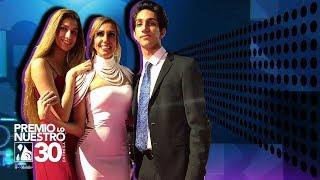 Lili Estefan recorrió con sus hijos la alfombra magenta de Premio Lo Nuestro