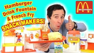McDonald's Hamburger Drink Foutain French Fry Happy Meal Snack Maker Playset 1993 - Démo Jo