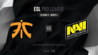 Fnatic vs Na`Vi - ESL Pro League Season 9 EU - map2 - de_overpass [PCH3LK1N & CrystalMay]