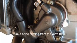 8. Husqvarna SM610 TC-Spec Cam - Out of Spec Valve Clearance