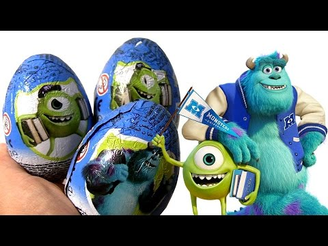University - Today i'm unboxing a 3-pack Disney Pixar Monsters University Surprise eggs from Zaini 3D same as Kinder egg surprise. This are Perfect for Easter, Christmas or any other Holiday event. Thanks...