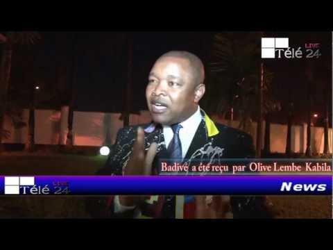 TÉLÉ 24 LIVE: Après avoir été foudroyé par le feu des combattants, BADIVÉ a été reçu à Kinshasa, par OLIVE LEMBE KABILA