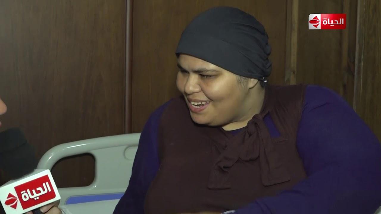 """صبايا - رد فعل ريهام سعيد بعد كلام مريضة لها """"زعلت جدا لما سمعت إنك لا قدر الله هتموتي"""""""