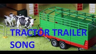 Download Lagu JOHN DEERE TRACTOR TRAILER  moving pigs, sheep, cows song #1 Mp3