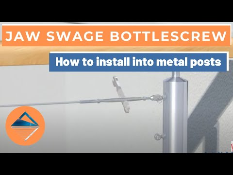 How To Install Wire Balustrade - Jaw Swage Bottlescrew for Metal Posts