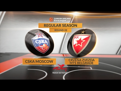 EuroLeague Highlights RS Round 22: CSKA Moscow 102-80 Crvena Zvezda mts Belgrade