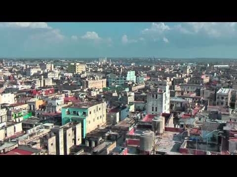 Beautiful view on Havana from the roof of the Bacardi Building
