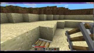 Minecraft Powered Rail and Detector Rail Tutorial part 1