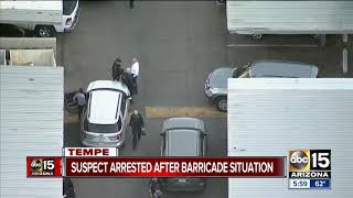 Suspect arrested after barricade situation forces evacuations at Tempe apartment