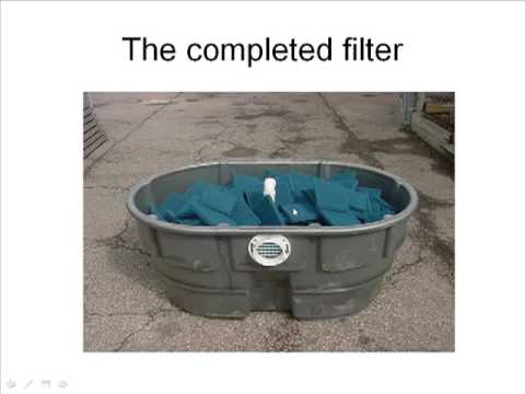 Small homemade pool filter small free engine image for for Pond filter system design