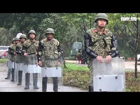 Video triển khai đặc nhiệm bắn tỉa, xe đặc chủng khu vực ga Đồng Đăng - Thời lượng: 56 giây.