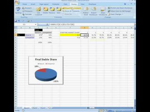 Excel How to: MMULT function & Markov Chains (silent video)