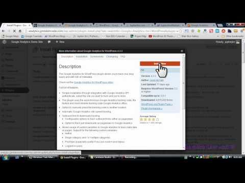 "How to Install ""Google Analytics for WordPress"" plugin by Yoast"
