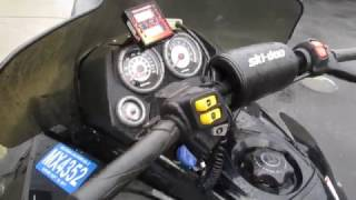 5. 2005 05 SKIDOO SKI DOO MACH Z 1000 SDI W/ CRANKSHOP TWIN PIPES FOR SALE, PARTS ONLY