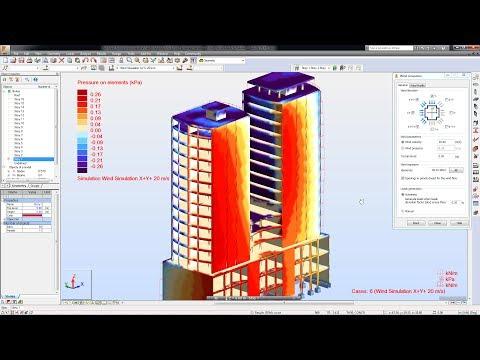 Simulation des charges du vent avec Robot structural analysis