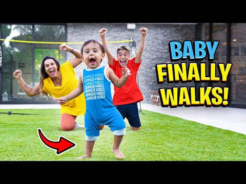 Baby Milan WALKS For The FIRST TIME!! (EMOTIONAL) | The Royalty Family
