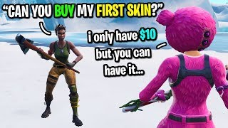 Video Twitch streamer gives me his FIRST donation so I could buy my first skin on Fortnite... (emotional) MP3, 3GP, MP4, WEBM, AVI, FLV Maret 2019