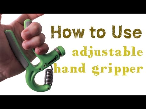 Hand Gripper Exercise - How to use adjustable hand gripper for hand and finger exercise.