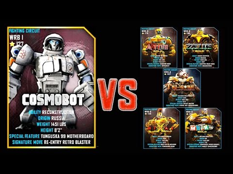 Real Steel WRB FINAL Cosmobot VS GOLD ROBOTS Series of fights NEW ROBOT (Живая Сталь)