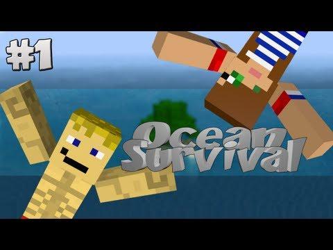 Minecraft Sobreviver No Oceano Com Agueda Ep.1 Apresentação
