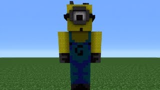 Minecraft 360: How To Make A Despicable Me Minion Statue
