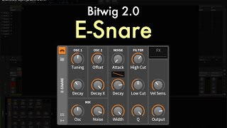 Bitwig 2.0 - E-Snare Overview