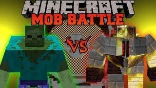 Mutant Zombie Vs. BIG Golem - Minecraft Mob Battles - Mo' Creatures and Mutant Creatures Mods