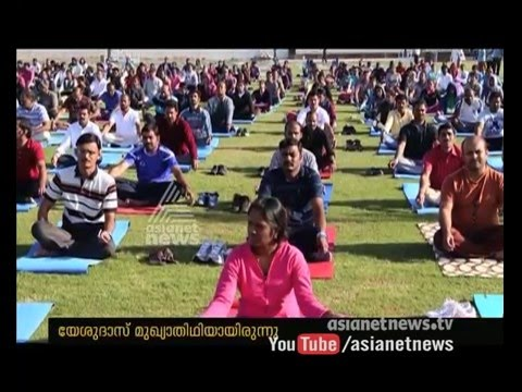 Yoga wave : Indian Consulate conduct Yoga at Sharjah 05 February 2016 11 23 PM