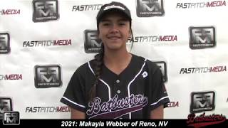 2021 Makayla Webber Pitcher and Outfield Softball Skills Video