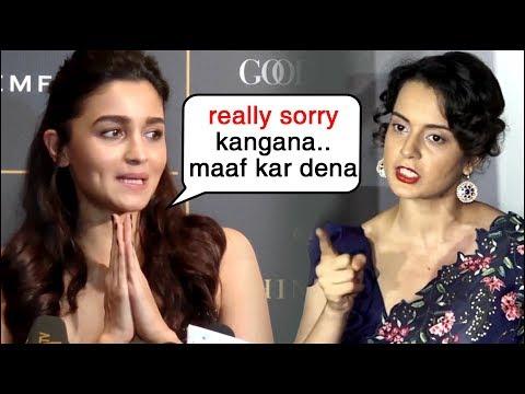 Alia Bhatt APOLOGISES To Kangana Ranaut For AVOIDING Manikarnika