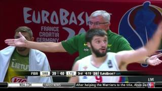 EuroBasket 2015 Semi-Finals; Serbia vs Lituania Second Half