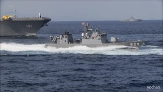 Nonton Missile boats.High speed Pass.Fleet Review