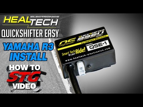 How to Install a HealTech Yamaha YZF-R3 15-17 QuickShifter Easy from Sportbiketrackgear.com