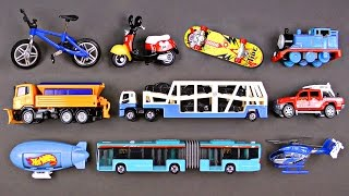 #1 Best Toddler Learning Street Vehicles for Kids Best Hot Wheels Matchbox Cars and Trucks for Children - Organic Learning.  This fun early learning family-friendly video uses Hot Wheels, Matchbox, Siku, and Tomica トミカ die-cast toy cars and trucks to teach young children about street vehicles. In this family-friendly video, young kids will learn about a Skateboard, Bicycle, Motor Scooter, Train (with Thomas the Train Engine), Snowplow, Car Carrier, Lifeguard Truck, Blimp, Articulated Bus, and Helicopter.  This educational kid-friendly learning street vehicles, cars, and trucks video is ideal for children, toddlers, babies, preschoolers, kindergarteners, special needs children, and children with autism and other learning disabilities, and our Organic Learning videos are also very useful for early childhood education or people looking to learn English or speak american english as a first or second language ESL or EFL. Have fun learning about Street Vehicles with this continuing series of fun Street Vehicles videos for kids!Please take a moment to LIKE our video, SHARE it with family & friends, and SUBSCRIBE to our Organic Learning channel… Your help and support are greatly appreciated!  Voice Over by Silly Billy - Check out his awesome YouTube channel:  https://www.youtube.com/channel/UCrL5ZTnr8f9UTaZf8S_DxaQSubscribe to our YouTube Channel:  http://www.youtube.com/subscription_center?add_user=OrganicLearning Follow us on Twitter:  https://twitter.com/OrganicLearningFollow us on Instagram:  https://instagram.com/OrganicLearningOfficial Website:  https://OrganicLearning.com - Fun Toy Giveways, Coloring Downloads, & More.Fan Mail - If you would like us to feature your letter, or car/truck drawing, in a future episode, please send them to (email) FanMail@OrganicLearning.com or (snail mail) Organic Learning, 2355 Westwood Blvd. #321, Los Angeles, CA 90064 USANOTE:  If you are under the age of 18, please get your parent or guardian's permission before sending fan mail or f