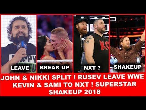 #45 John & Nikki Break Up ! Rusev Leave WWE ! Kevin & Sami in Nxt ! Superstar Shakeup 2018
