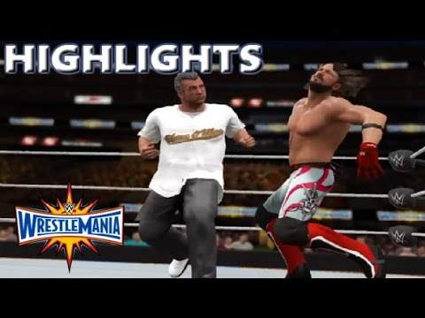 WWE 2K17 AJ STYLES VS SHANE MCMAHON | WRESTLEMANIA 33 - PREDICTION HIGHLIGHTS
