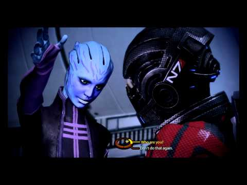 Shepard Gets Slapped By An Asari