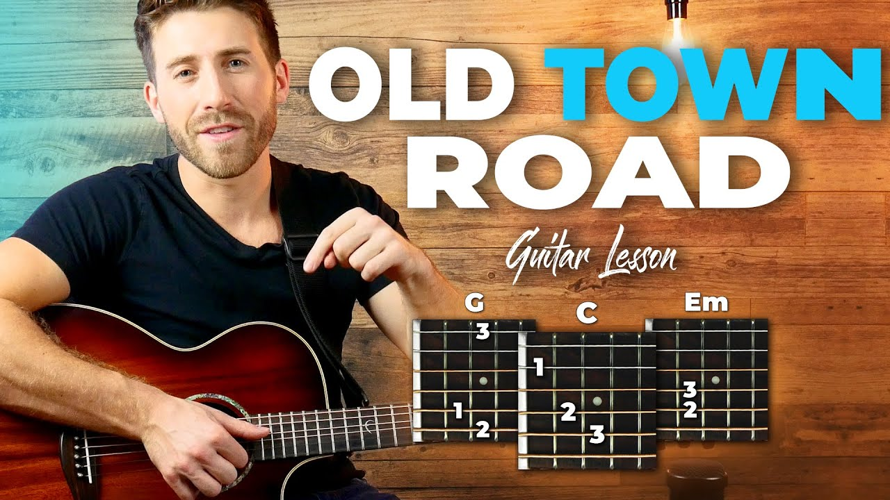 Old Town Road Guitar Tutorial – Easy Chords (Lil Nas X)