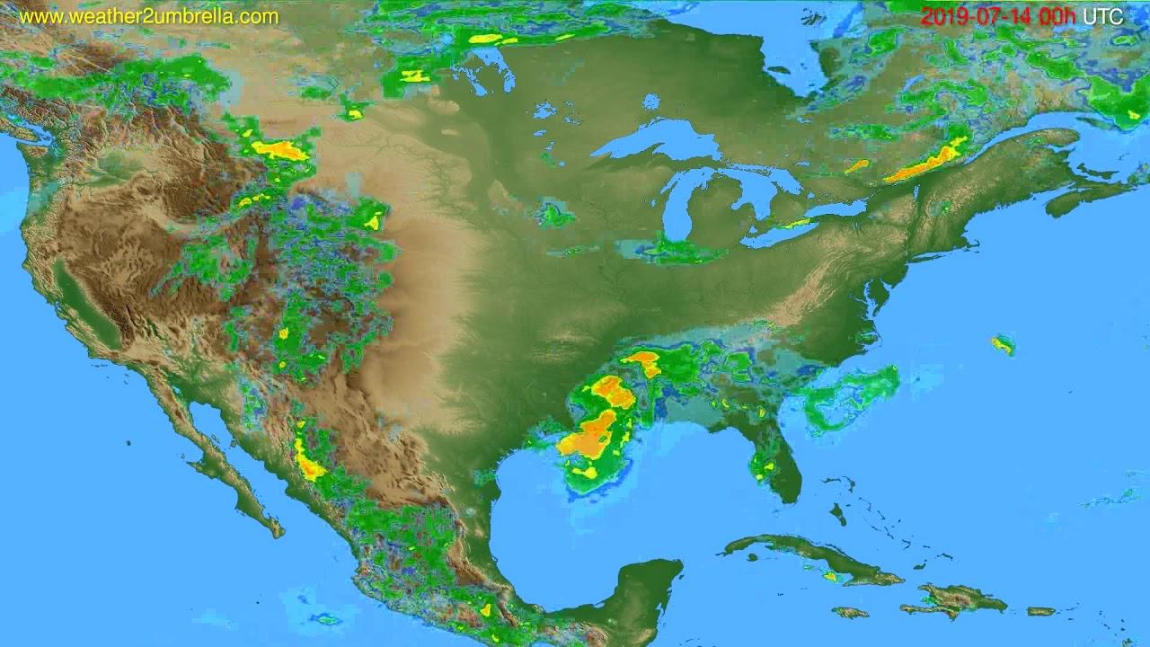 Radar forecast USA & Canada // modelrun: 12h UTC 2019-07-13