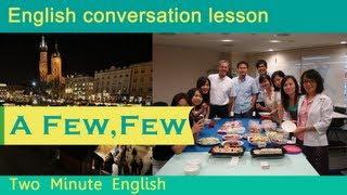 A Few and Few, Learn English Grammar Online