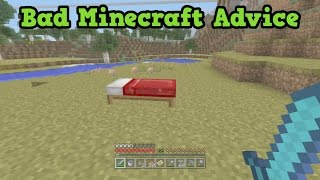 WORST MINECRAFT ADVICE That People Actually Give!?