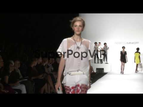 Models at Rebecca Minkoff - Runway - Performance by Janel...