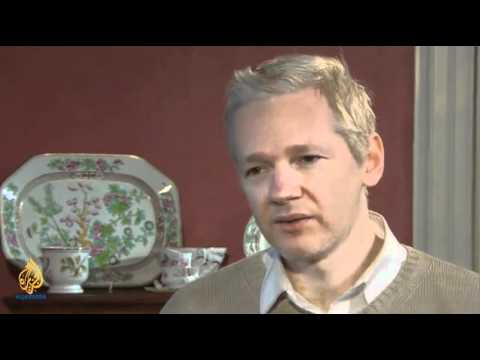 julian Assange Interview with Aljazeera part-1/2.mov