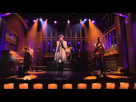 some - FUN performes the song Some Nights live on the NBC's SHow Saturday Night Live Season 38 Episode 06 hosted by Louis C.K. All TV Righs reserved to SNL Studios ...