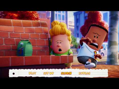 Captain Underpants: The First Epic Movie 2017 Blu-ray Menu Walkthrough