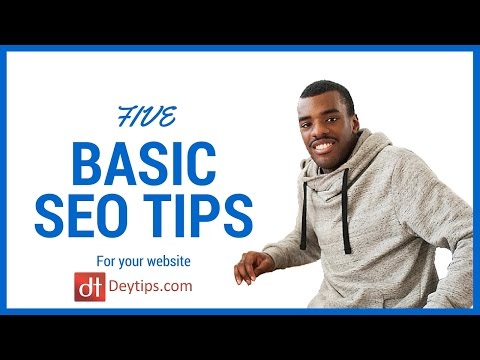 5 basic SEO tips to help rank your website in the search engines
